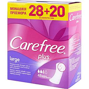 Σερβιετάκια CAREFREE Large Plus (48τεμ.)