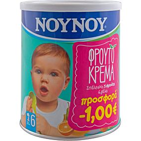 Παιδική κρέμα ΝΟΥΝΟΥ με σιτάλευρο, 5 φρούτα και γάλα (300g)