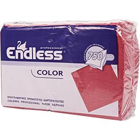 Χαρτοπετσέτες ENDLESS εστιατορίου κόκκινες 750φύλλα (5τεμ.)