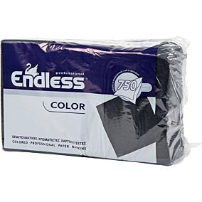 Χαρτοπετσέτες ENDLESS εστιατορίου μαύρες 750φύλλα