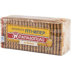 Μπισκότα ΠΑΠΑΔΟΠΟΥΛΟΥ ΠΤΙ ΜΠΕΡ με βρώμη και μέλι (155g)