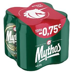 Μπύρα MYTHOS -0,75€ (4x330ml)