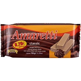 Γκοφρέτα AMARETTI με κρέμα κακάο -0,20€ (180g)