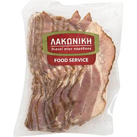 Μπέικον ΛΑΚΩΝΙΚΗ Snack σε φέτες (~1kg)