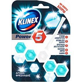 Αποσμητικό τουαλέτας KLINEX block power 5 άρωμα φρεσκάδας (55g)