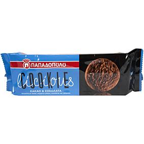 Μπισκότα ΠΑΠΑΔΟΠΟΥΛΟΥ COOKIElicious με σοκολάτα και κακάο (180g)