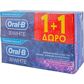 Οδοντόκρεμα ORAL B 3D white (2x75ml)