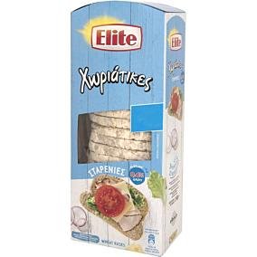 Φρυγανιές ELITE χωριάτικες σταρένιες με 0,4% αλάτι -0,3€ (240g)