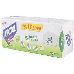 Εντομοαπωθητικό AROXOL natural 4 ταμπλέτες (15+15 δώρο) (30τεμ.)