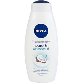 Αφρόλουτρο NIVEA care & coconut με γάλα jojoba και άρωμα καρύδας (750ml)