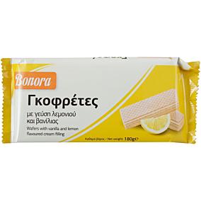 Γκοφρέτα BONORA με κρέμα λεμόνι (180g)