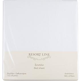 Σεντόνι RESORT LINE 48% βαμβακερό 52% πολυεστέρας λευκό 160x270cm