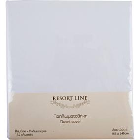 Παπλωματοθήκη RESORT LINE 48% βαμβακερή 52% λευκή 165x82cm (2τεμ.)