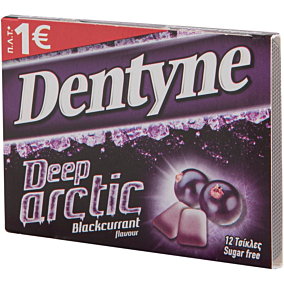 Τσίχλες DENTYNE deep arctic blackcurrant (16,8g)
