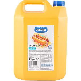 Μουστάρδα CONDITO απαλή (4,2kg)