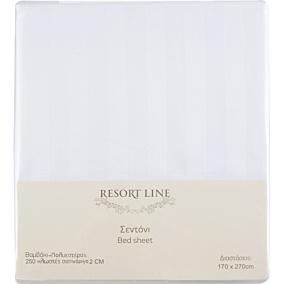 Σεντόνι RESORT LINE 48% βαμβακερό, 52% πολυεστέρα λευκό 170x270cm