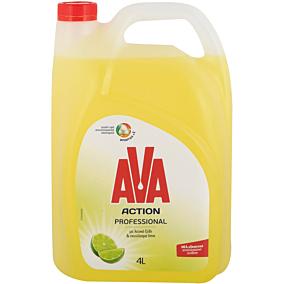 Απορρυπαντικό πιάτων AVA action αντλία ξύδι και lime, υγρό (4lt)