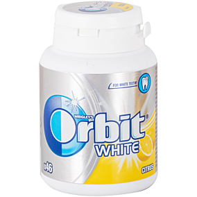 Τσίχλες ORBIT White κίτρο (65g)