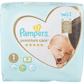 Πάνες PAMPERS premium care 2-5kg (26τεμ.)