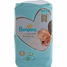 Πάνες PAMPERS Premium Care Newborn No.1, 2-5kg (52τεμ.)