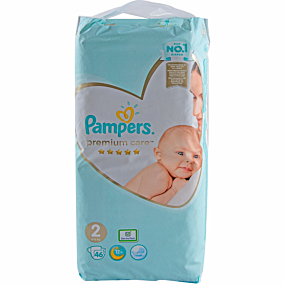 Πάνες PAMPERS Premium Care No.2, 3-6kg (46τεμ.)