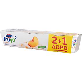 Γιαούρτι επιδόρπιο FRUYO ροδάκινο 2+1 ΔΩΡΟ (3x170g)