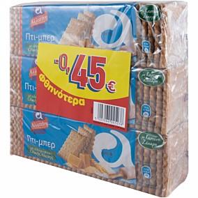 Μπισκότα ΑΛΛΑΤΙΝΗ ΠΤΙ ΜΠΕΡ ολικής άλεσης (3x225g)