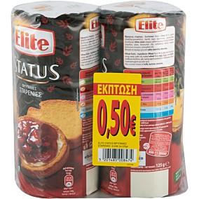 Φρυγανιές ELITE Status σίτου -0.50€ (2x125g)