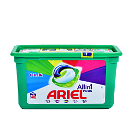 Απορρυπαντικό ARIEL All in 1 Color πλυντηρίου ρούχων, σε υγρές κάψουλες (40τεμ.)