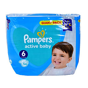 Πάνες PAMPERS Active baby No.6 giant (56τεμ.)