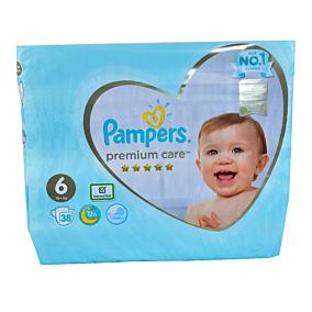 Πάνες PAMPERS premium care No.6 Jumbo (38τεμ.)