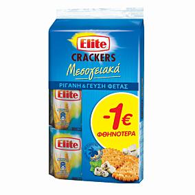 Κράκερ ELITE με φέτα και ρίγανη -1€ (3x105g)