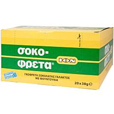 Γκοφρέτα ΙΟΝ σοκοφρέτα MAXI φουντούκι (20x38g)
