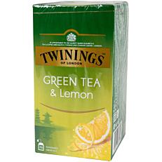 Τσάι TWININGS green tea lemon (25x2g)