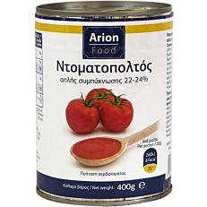 Τοματοπολτός ARION FOOD απλής συμπύκνωσης (22-24%) (400g)