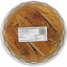 Σκουμπρί φιλέτο καπνιστό (1,9kg - στραγγισμένο βάρος 1,2kg)