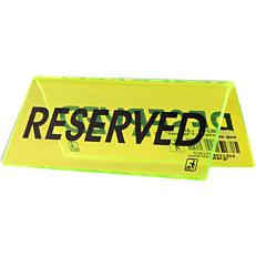 """Σήμα """"Reserved"""" πράσινο φωσφοριζέ, 15x15cm από plexiglas"""