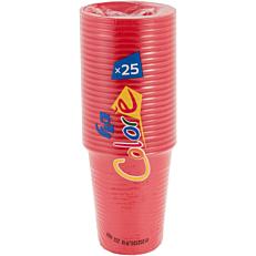 Ποτήρια πλαστικά 200ml σε κόκκινο χρώμα (25τεμ.)