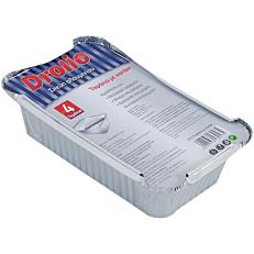 Σκεύη DROLIO ΓΙΑ ΕΠΑΓΓΕΛΜΑΤΙΕΣ αλουμινίου με καπάκια D14 (4τεμ.)