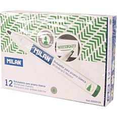 Μαρκαδόροι MILAN λευκού πίνακα πράσινοι (12τεμ.)