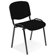 Καρέκλα επισκέπτη μαύρη με μαύρο σκελετό