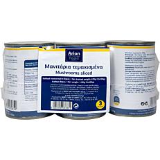 Κονσέρβα ARION FOOD μανιτάρια κομμένα (3x400g)