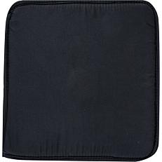 Μαξιλάρι καρέκλας μαύρο 38x38x2,3cm