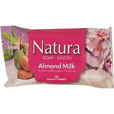 Σαπούνι NATURA πλάκα, γάλα-αμύγδαλο (90g)