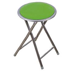 Σκαμπώ πτυσσόμενο πράσινο με αφρολέξ pvc
