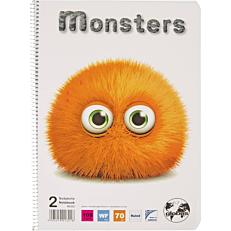 Τετράδιο GLOBUS monster Α4 2 θέματα 50φύλλων