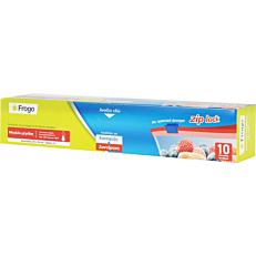 Σακούλες τροφίμων FROGO zip 30x36cm (10τεμ.)