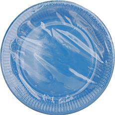 Πιάτα χάρτινα μονόχρωμα μπλε 23cm (10τεμ.)