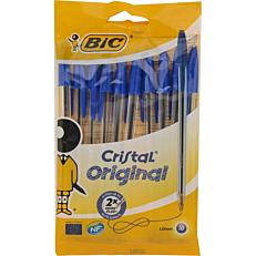 Στυλό διαρκείας BIC cristal μπλε (10τεμ.)