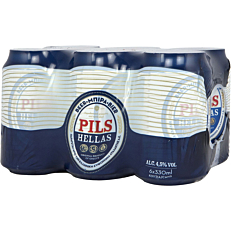 Μπύρα PILS HELLAS (6x330ml)